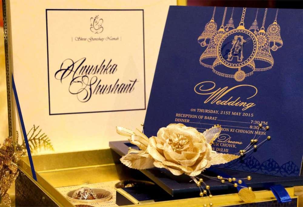 VWI - New Delhi -BLUE-BELLVWI-1008 #Wedding #card #designer #invitation #card