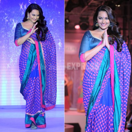 Saree for Apple-Shaped Body
